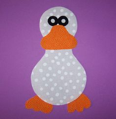 Fabric Applique Template Only Duck Goose