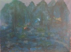 Night picpic in the woods (acrylic on canvas - 15/01/15)