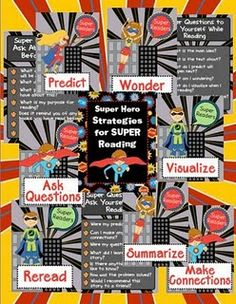Reading Strategies Super Hero