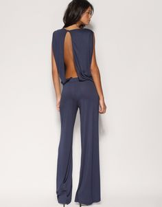 I would totally rock an open back pants suit if I had somewhere to wear it to......