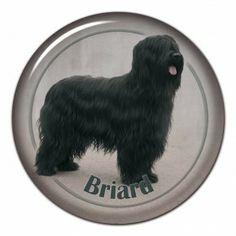 Briard 3D sticker - #briard #pastordebrie