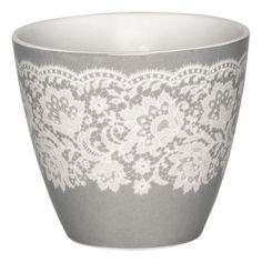 GreenGate Stoneware Latte Mok Liva Warm Grey 9cm