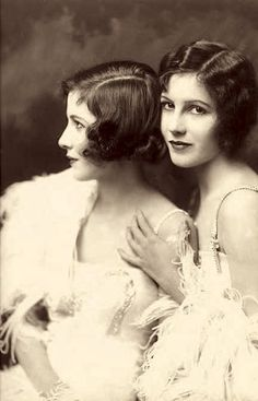 The Fairbank Sisters (Madeline & Marion), were stage and motion picture actresses active in the silent era  -  photo by Alfred Cheney Johnston, c. 1922