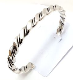 Sterling Silver Native American Navajo Indian Flat Twist Cuff Bracelet.