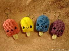 amigurumi popsicle key chains
