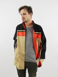 Vintage colorblock jacket 'Traffic light' by NylonRoad on Etsy