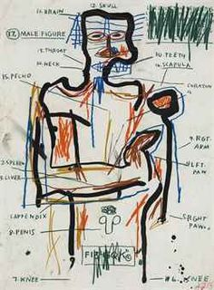 Jean-Michel Basquiat, Untitled , 1983  (sold at Christie's 11-15-2012 for $674,500)