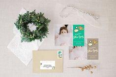 glam gemstone :: holiday photo card by little bit heart #holidaycards #holiday #christmascards #gemstone #gold