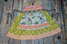 LOVE!! Matilda Jane Platinum Art Fair Decaf Perk Coffee Apron Knot Dress #MatildaJane