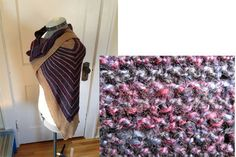 #5kcbwday3 knit shawl with photo detail