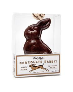 Chocolate Rabbit made from single origin chocolate from Belize, made by Dick Taylor Chocolate Chocolate Rabbit, Easter Chocolate, Single Origin, Belize, Dark, Crafts, Instagram, Manualidades, Handmade Crafts