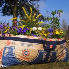 tulsicrafts | plantbag made of recycled cement sacks | big