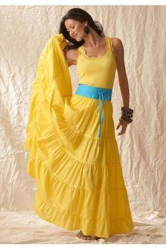 Yellow peasant skirt