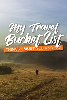 Got a travel list you must do whatever you can to achieve it? This is my personal travel bucket list that might also inspire your inner thirst for travel. Before I Die, Travel List, Things To Do, Blogging, Bucket, Inspire, World, Things To Make, Pack List
