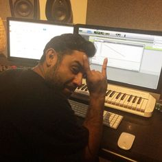 Metal collab with Pav coming up. Just fucking with ya. #studio #ukhh #hiphop #production #emcees #devilhorns