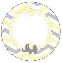 Rotulo-Personalizado-para-latinha-e-toppers-Elefantinho-Chevron-Amarelo-e-Cinza.jpg (628×643)