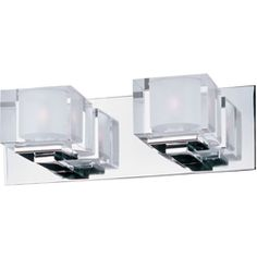 Love the Cubic 2-light bathroom vanity wall sconce by Maxim Lighting. it really is the cherry-ontop in any remodel.     see the entire collection at www.maximlighting.com