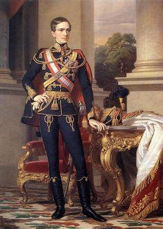 A young Emperor Franz Josef in hussar uniform