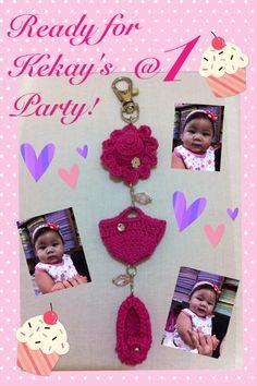 Baptismal crochet chain souvenir