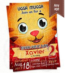 Daniel Tiger Invitation Daniel Tiger Birthday by lovebuggydesigns
