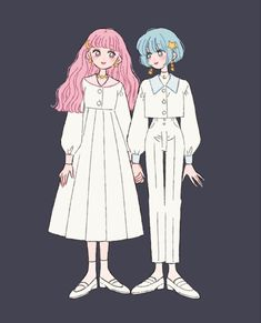 Kawaii Anime Girl, Anime Art Girl, Character Art, Character Design, Gothic Anime, Naruto Girls, Korean Art, Cartoon Art Styles, Anime Outfits