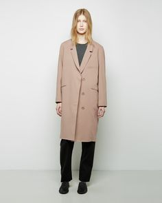 Christophe Lemaire Dress Coat in Biscuit