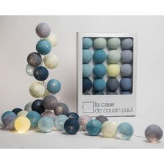 Sixty Two luminous garland with 20 balls La case de cousin Paul Children- A large selection of Design on Smallable, the Family Concept Store - More than Baby Bedroom, Baby Boy Rooms, Kids Bedroom, Cousins, Cotton Ball Lights, Bedding Inspiration, Kids Store, Woodland Nursery, Kids House