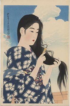Ito Shinsui, nació en Fukagawa, distrito de Tokio, el  4 Febrero 1898 – 8 Mayo 1972 este es el seudonimo de este pintor deNihong...