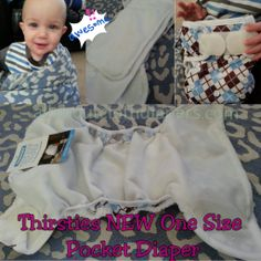 {Giveaway} Thirsties NEW One Size Pocket from All About Cloth Diapers