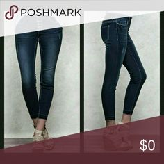 "🔥Limited Time Sale🔥Mid-Rise Ankle Jeans These Harlow fashion jeans come in a dark wash with ankle jegging leg opening. Details include surface abrasion, release hem and signature V belt loops. Fits with 4 button closure.    🔹10"" jegging leg opening, 27"" inseam  🔹Slim fit, mid-rise, super stretch   Material: 76% cotton, 22% polyester, 1% rayon, 1% spandex   🚫No trades🚫  ✔Reasonable offers considered (Item #40) Harlow Jeans Ankle & Cropped"