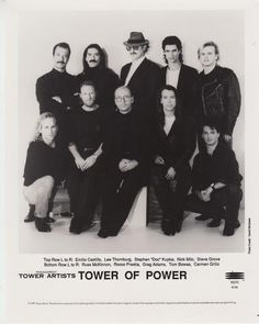 Tower of Power Four Official Press Photos Glossy Record Company Portraits Tower Of Power, Record Company, R&b Soul, Press Photo, Old School, San Francisco, Music, Movie Posters, Image