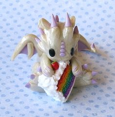 Rainbow Cake Dragon by whitemilkcarton.deviantart.com on @DeviantArt