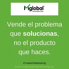 Vende el problema que solucionas, no el producto que haces. #FrasesDeMarketing #MarketingRazonable #MarketingQuotes