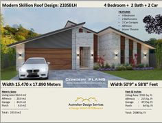2508 Sq Foot (233 m2) house plans | 4 Bedroom house plans | Cheap Home Plans | 4 Bedroom  design | 4 bed floor plans | 4 bed + Home Theatre by AustralianHousePlans on Etsy Duplex Floor Plans, Floor Plan 4 Bedroom, Modern Floor Plans, 4 Bedroom House Plans, Home Design Floor Plans, Modern House Plans, Small House Plans, House Floor Plans, House Plans For Sale