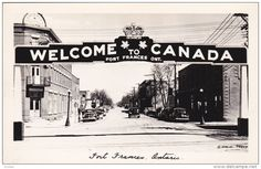 RP: main Street w/ Arch , FORT FRANCES , Ontario , Canada , 30-40s Version-2