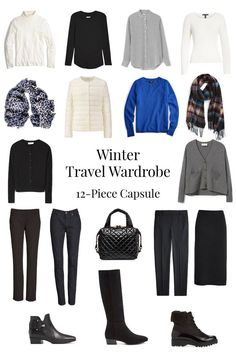 A travel capsule wardrobe for winter. Tips for building your winter travel wardrobe. A neutral travel capsule wardrobe for winter. Casual Winter Outfits, Winter Travel Outfit, Winter Outfits Women, Winter Travel Packing, Outfit Winter, Summer Travel, Capsule Wardrobe 2018, Travel Wardrobe, Look Fashion