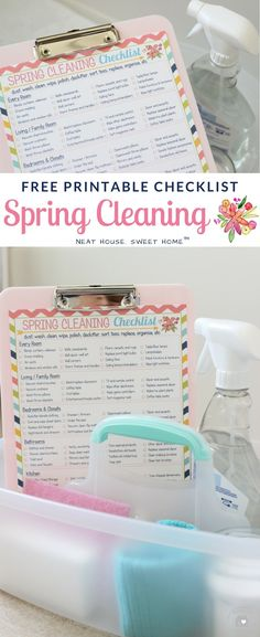 SPRING CLEANING CHECKLIST: Refresh and renew your entire home in 7 days. This free printable spring cleaning checklist will help you get started. Cleaning Dust, Deep Cleaning Tips, Cleaning Walls, House Cleaning Tips, Diy Cleaning Products, Cleaning Solutions, Monthly Cleaning Schedule, Clean House Schedule, Spring Cleaning Checklist