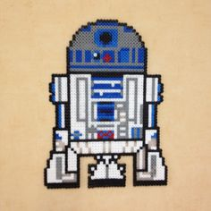 R2D2 Star Wars hama perler beads by Lauro Espinosa Val