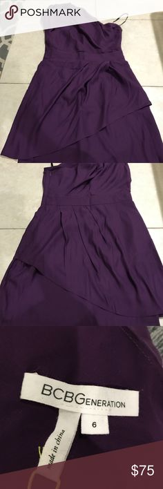 BCBG New with tags violet dress size 6 New with tags. Violet one shoulder dress. BCBGeneration Dresses One Shoulder