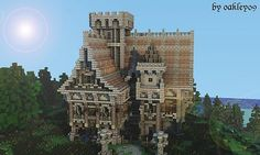 Some words from the builderoakley09 Hey allIt's a rather big medieval mansion, completely furnished, pretty detailed and with a nice landscape which was created in WorldPainter. The house itself t...