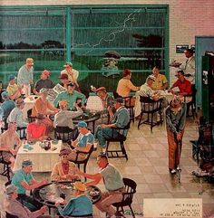 *Clubhouse on a rainy day...Ben Kimberly Prins (1902 –1980)