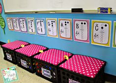 Sew Much Music-music classroom decor, Recorder fingerings, seat crates for movement props