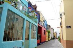 Trentemoult, village multicolore près de Nantes