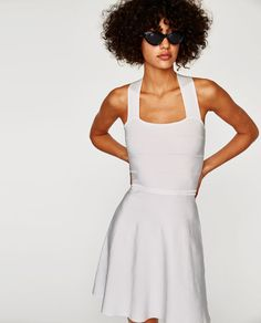 Image 2 of KNIT DRESS WITH CRISS-CROSS BACK from Zara