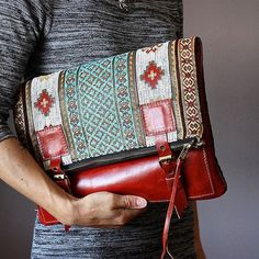 Pisidia Women's Leather Bowler Eco-friendly Silicone Handbag Leather Bag Tutorial, Leather Bag Pattern, Leather Clutch, Leather Purses, Tribal Bags, Gypsy Bag, Carpet Bag, Tapestry Fabric, Burberry Handbags