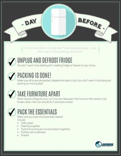 Moving day is tomorrow! Check off your to do list with this interactive checklist.