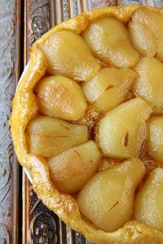 French Dessert Recipe: Pear Tarte Tatin - this is excellent!  Mind didn't turn out as pretty, but maybe next time.