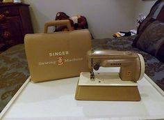 Vintage Toy Sewing Machine with Case Made in Great Britian