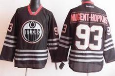 2012 Edmonton Oilers 93 Ryan Nugent Hopkins Black Jerseys