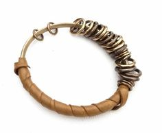 Cool bracelet!  Like the leather-would make it more comfortable.